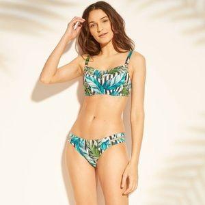 NWT Shade and Shore Green Palm Bikini
